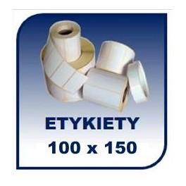 Etykiety termiczne 100x150, 400 szt. samoprzylepne na rolce