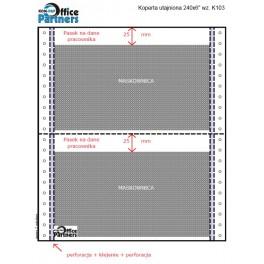 Koperty utajnione płacowe 240x6 1+2 /1200szt K103